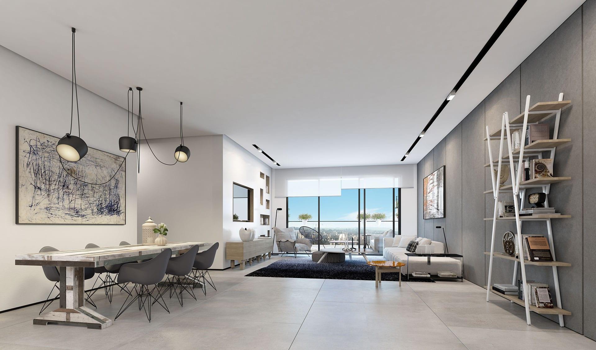 Checker ando studio for Bluestone flooring interior